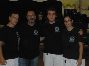 Gli instruttori della kbc dopo la manifestazione a Pordenone